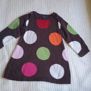 babyGap Polka-dot Knit Sweater Dress